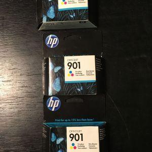 HP Office Jet 901, Tri-colour - Αυθεντικά καινούργια μελάνια της ΗΡ
