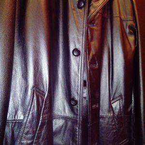 Δερμάτινο (100% δέρμα) ανδρικό παλτό a6b666f7477