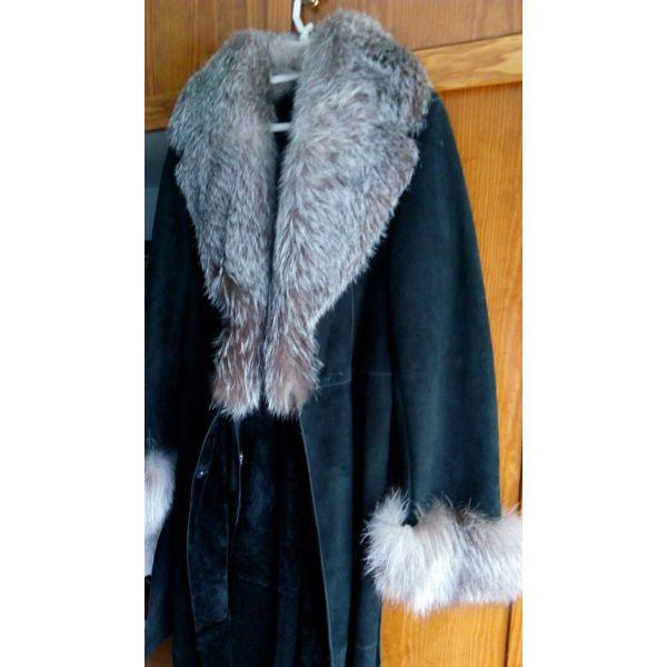 a34ff4ccb2 palto makri mouton mavro me giaka ke mansetes apo alepou gris argent