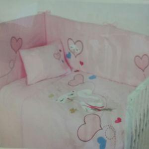 Σετ προίκας Μωρού 3 τμχ Das Home Baby Line Embroidery 6163