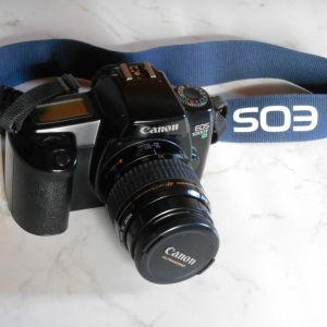 Πωλείται  φωτογραφική μηχανή  ( film 35 mm )  Canon  EOS  1000 F  με φακό  Canon ultrasonic  zoom  35 - 80  mm 1: 4 - 5,6
