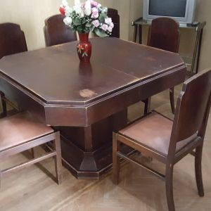 Τραπεζαρία με 6 καρέκλες - αντίκα