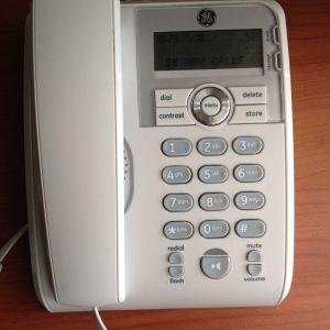 Σταθερό τηλέφωνο General Electric με αναγνώριση κλήσης και ανοιχτή ακρόαση. Σε άριστη κατάσταση.