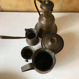 Μπρούτζινα σκεύη καφέ