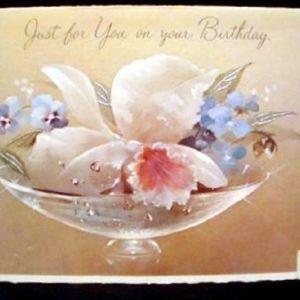 Παλαιά σπάνια αυθεντική ευχητήρια κάρτα γενεθλίων NORCROSS - N.YORK - USA.