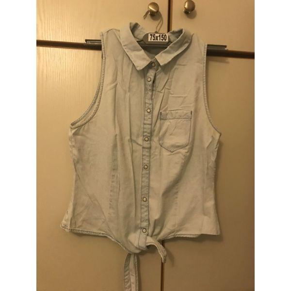 edbe34c8d0bf Τζιν πουκάμισο αμάνικο H M - € 2 - Vendora.gr