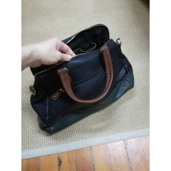 Μαύρη-πράσινη-καφέ τσάντα 4f84184671e