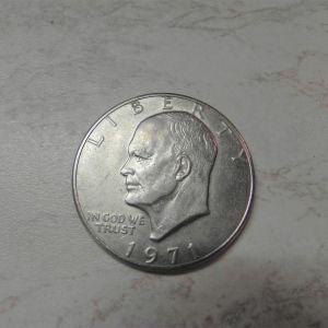 1 Dollar 1971, Half Dollar 1967, Quarter Dollar 1985.