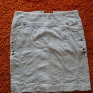 Λευκή τζιν φούστα