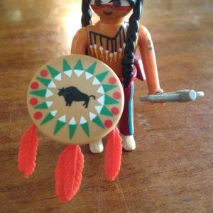 Rare Special Playmobil Indian Warrior
