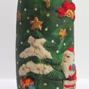 Χριστουγεννιάτικο Κεραμικό Βάζο