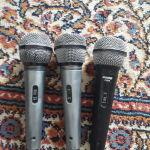3 shure microphones