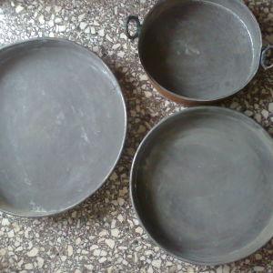 3 Χαλκινα ταψια