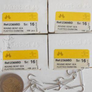 mustad νούμερο 16  4 κουτιά 2369 BD