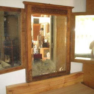Παλιος σκαλιστος τριπλος καθρεπτης