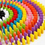 120 ξύλινα χρωματιστά ντόμινο