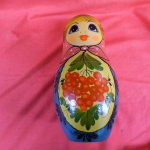 Αυθεντική παλιά Ρώσικη μεγάλη Μπαμπούσκα (3 κούκλες)