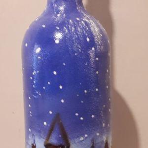 """Μπουκάλι """"Χιονισμένο χωριο"""""""