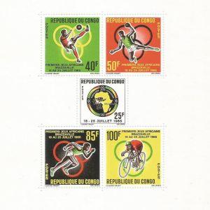CONGO - BLOCK 3 1965 MNH