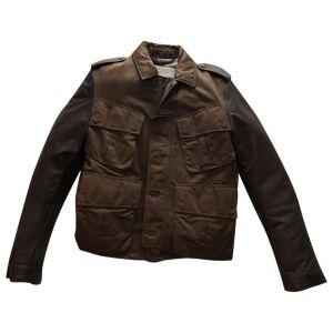 BURBERRY COTTON LEATHER Jacket