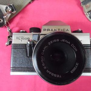 Φωτογραφική μηχανή PRACTICA PENTACON SUPER TL 1000 της δεκαετίας του '70. ΦΑΚΟΣ 2,8/50 CARL ZEISS JE