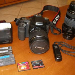 Canon EOS 50D με πλήρη εξοπλισμό