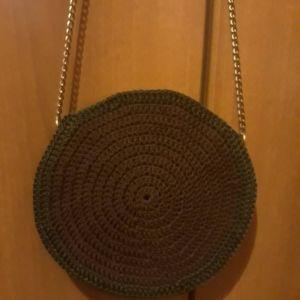 Πλεκτή μαύρη τσάντα - αγγελίες σε Αθήνα - Vendora.gr 5703eb487cc