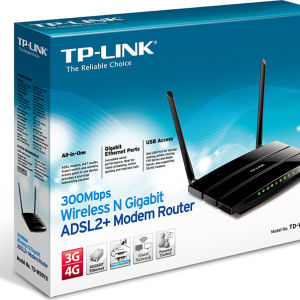 TP-LINK TD-W8970 300MBPS WIRELESS N GIGABIT ADSL2+ PSTN MODEM ROUTER (ΕΝΤΕΛΩΣ ΑΧΡΗΣΙΜΟΠΟΙΗΤΟ)