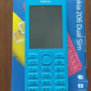 NOKIA 206 DUAL SIM μπλε