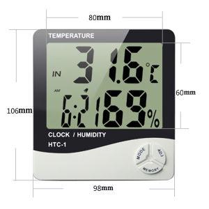 Ρολόι τοίχου με θερμόμετρο/υγρόμετρο