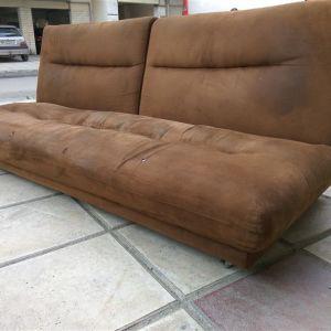 Καναπές κρεββάτι χρώμα καφέ