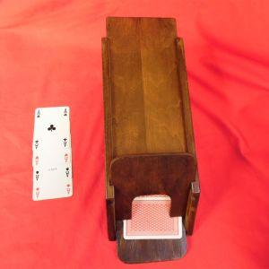 Παλιό ξύλινο χειροποίητο σαμπό (για μοίρασμα τράπουλας).