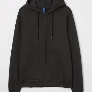 H&M Hooded jacket zip Divided Μαύρο σε Large (L) Καινούριο