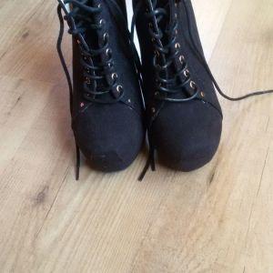 Δετά ankle boots με τακούνι