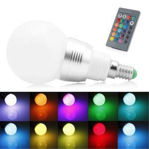 Μαγικη Λαμπα Αλλαγης Χρωματος LED Με Κοντρολ Ε14