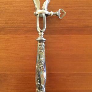 Ασημένιο vintage εργαλείο σερβιρίσματος με σχέδιο λουλουδιού