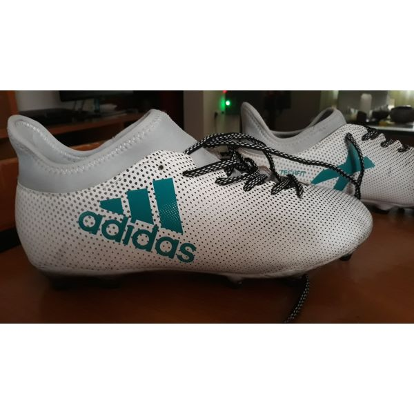 finest selection 38338 3a8a5 Adidas X 17.2 FG Mens Football Boots (White-Blue)