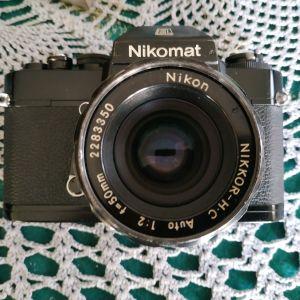 NIKKORMAT EL + 4 φακοι 20mm 28mm 35mm 50mm  σε αριστη κατασταση