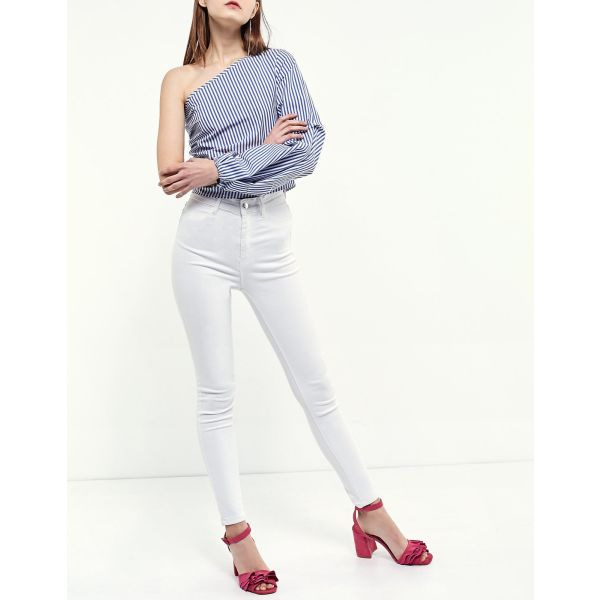 14929e0d1d Ριγέ μπλούζα πουκάμισο με έναν ώμο… - € 10 - Vendora.gr