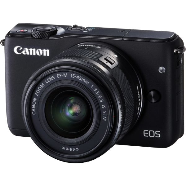Canon Eos M10 black (15-45mm stm) me leather jacket brown.
