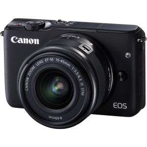 Canon Eos M10 black (15-45mm stm) με leather jacket brown.