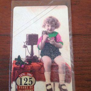 Θέμα: 125 Χρόνια Τηλέφωνο 1876-2001 - 6 Τηλεκάρτες ΑΧΡΗΣΙΜΟΠΟΙΗΤΕΣ, Τιράζ 25000, Ετος 2001