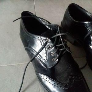 OXFORD μαύρα παπούτσια Νο 41