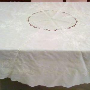 Τραπεζομάντηλο ροτόντα λευκό, διάμετρος 1,65 με 12 πετσετάκια