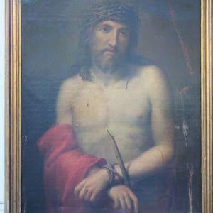 Σημαντική ελαιογραφία σε καμβά, έργο: II Cristo (1700')