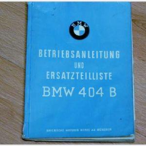 BMW 404 B Manual
