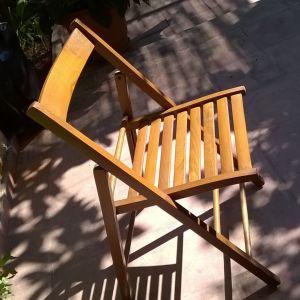 Καρέκλες πτυσσόμενες ξύλινες ( 6 )