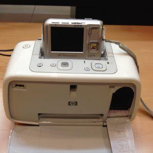 HP photosmart 440 printer με ψηφιακή φωτογραφική μηχανή (σετ)