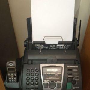 FAX Panasonic απλού χαρτιού με φορητό τηλέφωνο
