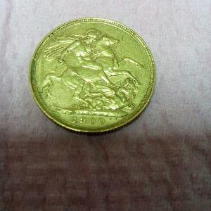 Χρυση Αγγλιας Λιρα (8γρ)1900